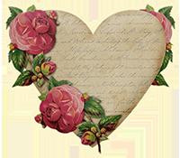 花爱心情人节复古爱情