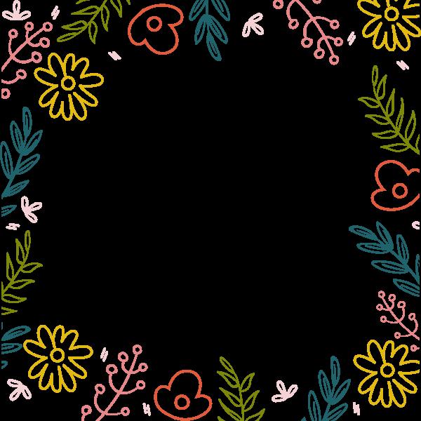 花边边框框植物花