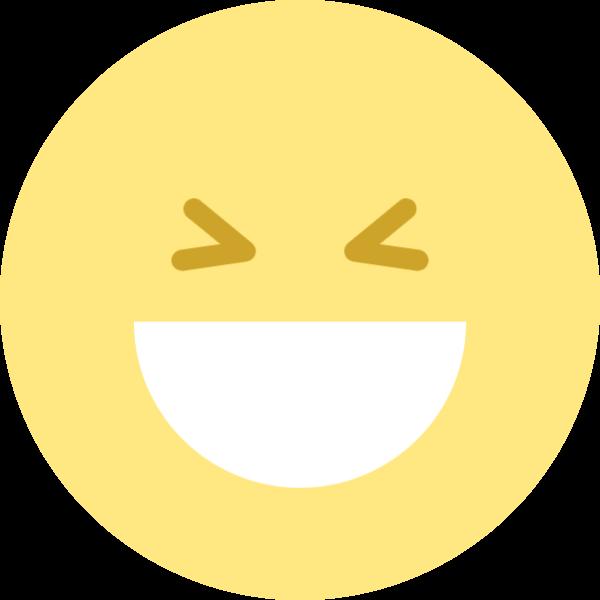 开心大笑表情emoji圆
