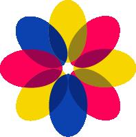 三原色孟菲斯几何图形颜色