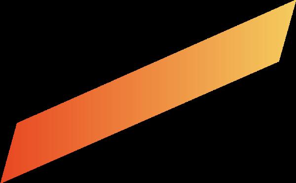 渐变平行四边形线条橘色黄色