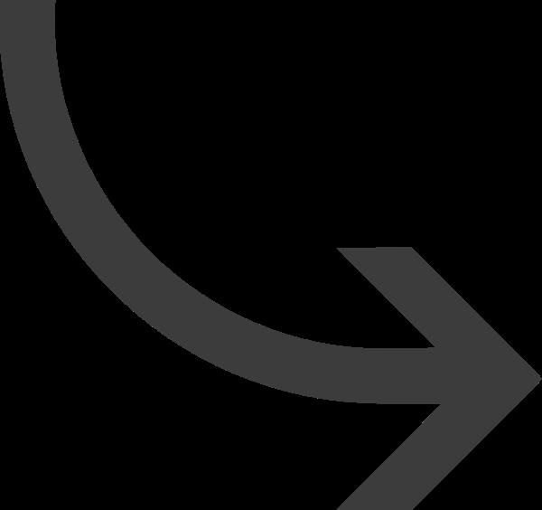 曲线箭头右下箭头转弯