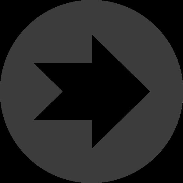 右箭頭空心箭頭向右箭頭指示