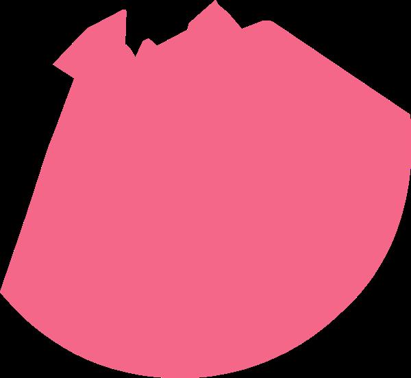 剪影粉色几何扇形图标
