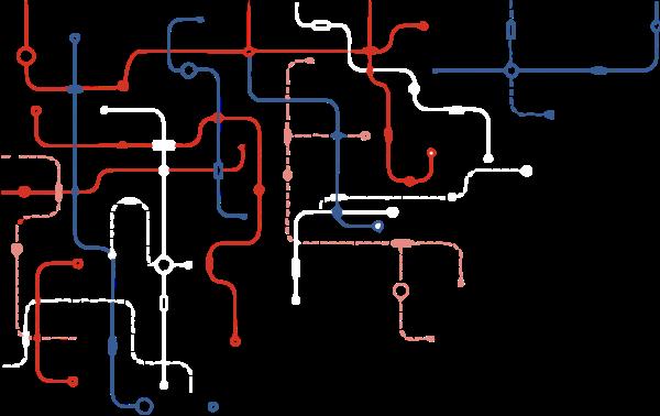 路线地图地铁路线图标线条