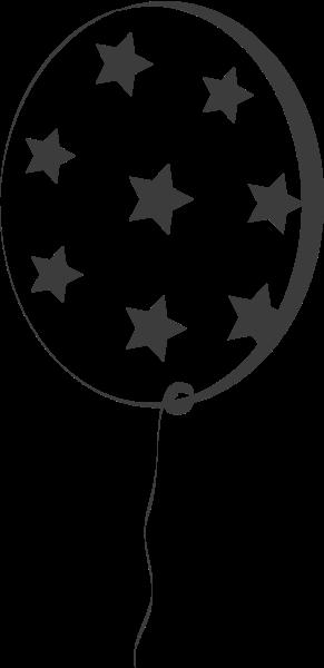星星框边框气球黑白