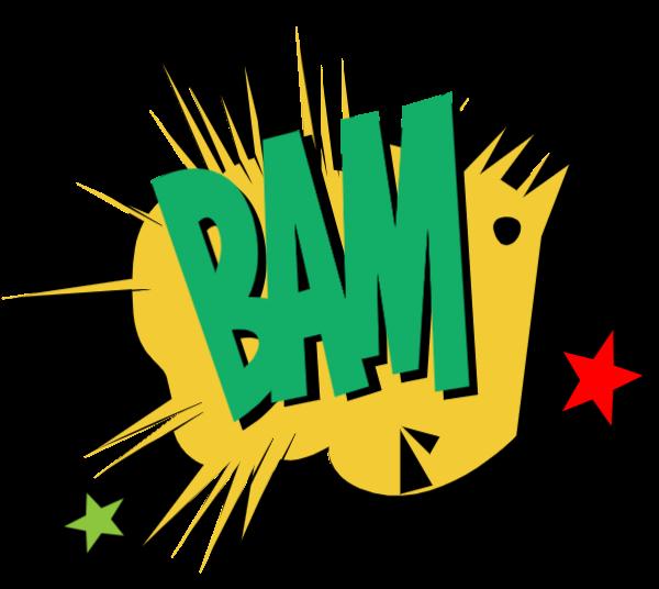 爆炸bam拟声词星星撞击