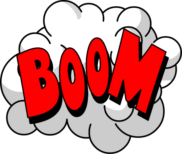 爆炸boom拟声词撞击碰撞