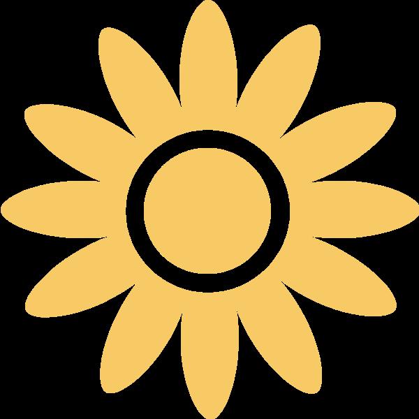 花向日葵花卉黄色剪影