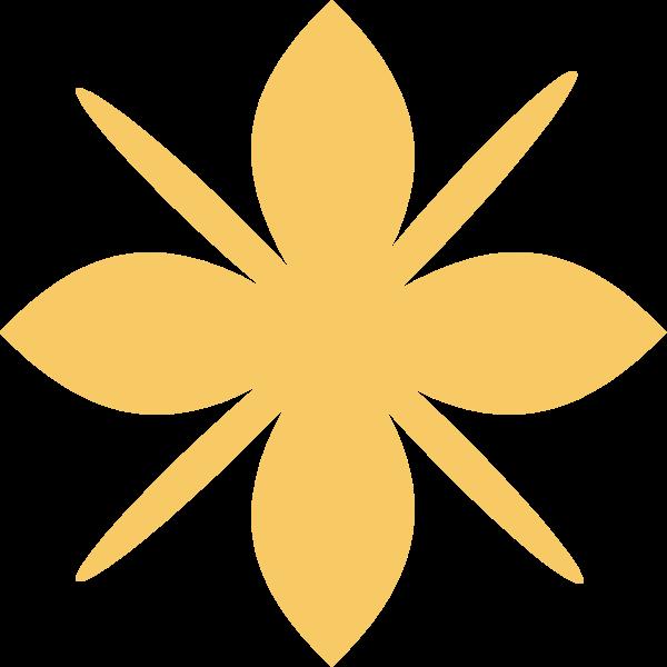 花花卉黄色剪影装饰