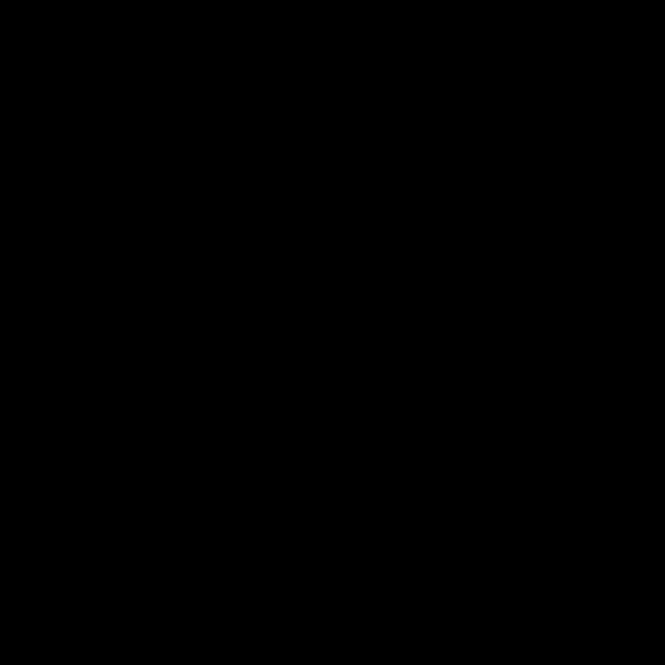 花纹多边形花瓣装饰黑白