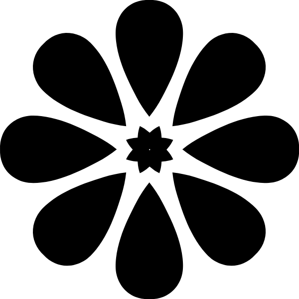 花纹花瓣装饰梅花黑白