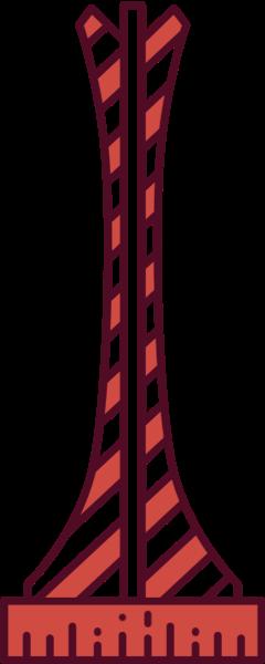 塔铁塔尖塔建筑模型