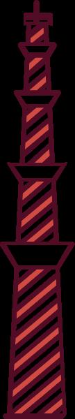 塔铁塔尖塔斜塔建筑