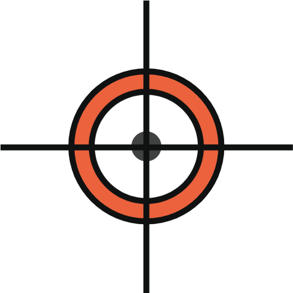 靶子枪靶瞄准射击红心