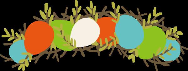 花環復活節彩蛋彩蛋節日個性