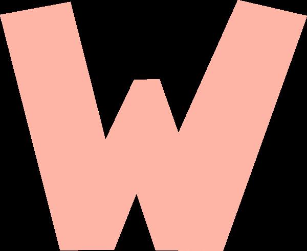 字母w文字字体设计英文
