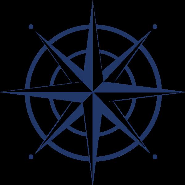 指南针图形复古海军风标志
