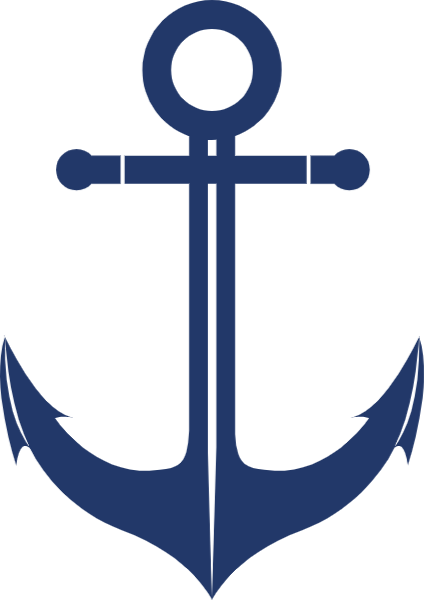 船锚航海复古海沟蓝色