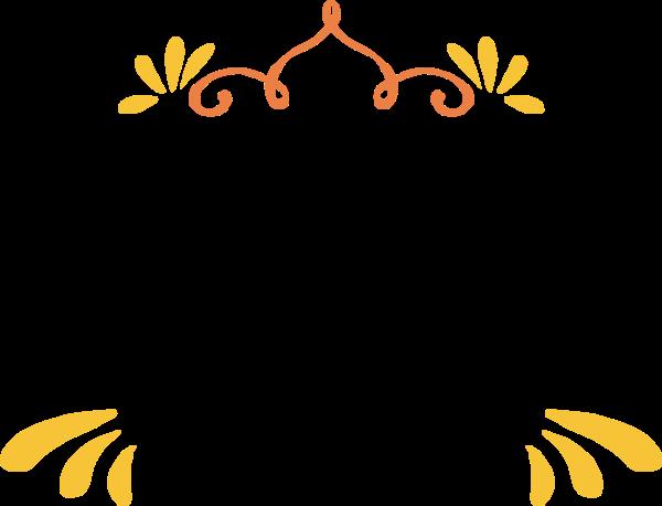 花纹花边装饰装饰元素黄色