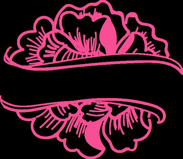 花纹花朵花边少女粉色
