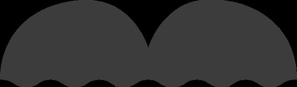 半圆圆两个半圆组成底部是波浪线