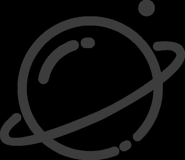 星球土星图标基本标识
