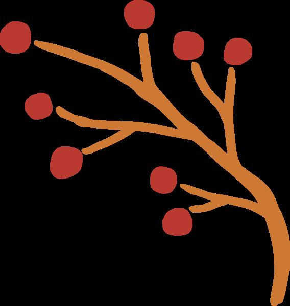花纹花边橙色装饰植物