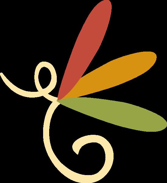 花纹花边黄色装饰植物