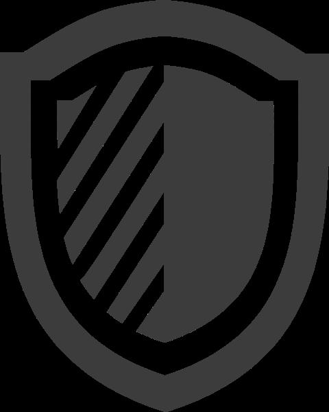 盾牌图形简笔画灰色基本