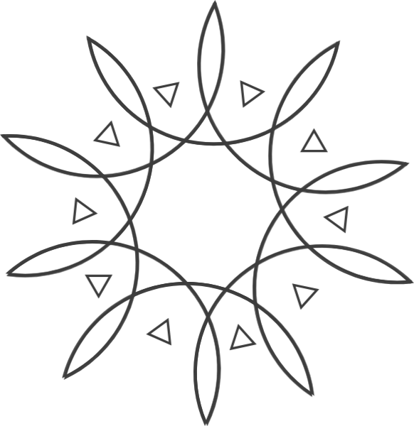 太阳花太阳花纹黑白装饰