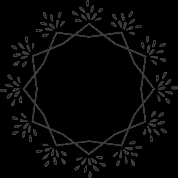 圆框框花框花纹花环