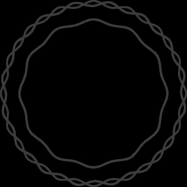 花纹花环线线条框