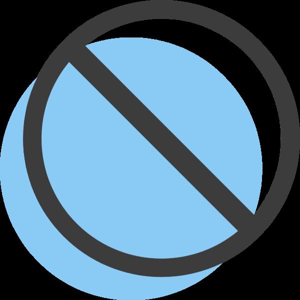 禁止圖標標示符號圖形