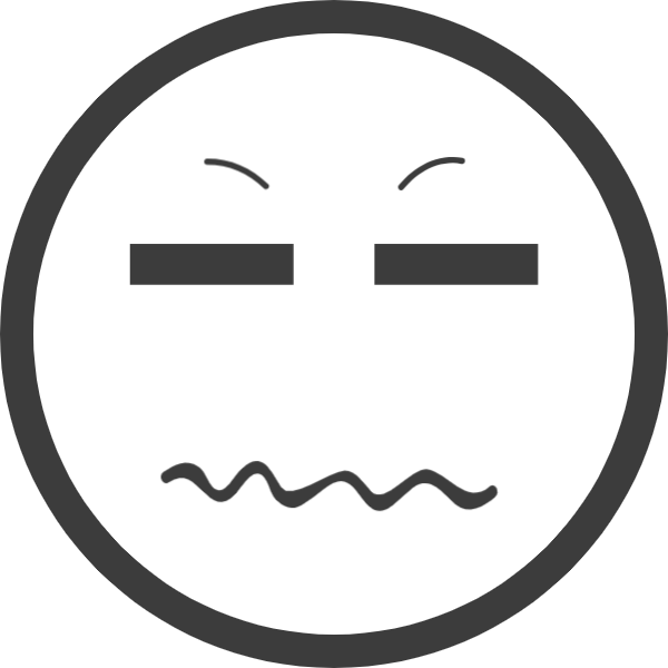 表情鄙视皱眉表情包符号