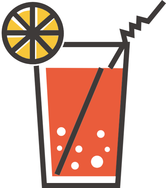 鸡尾酒杯子柠檬茶饮料饮品