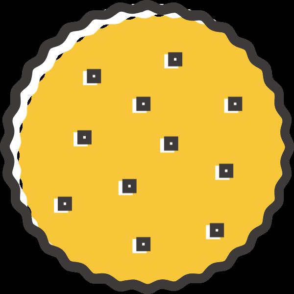 饼干图形圆黄色美食