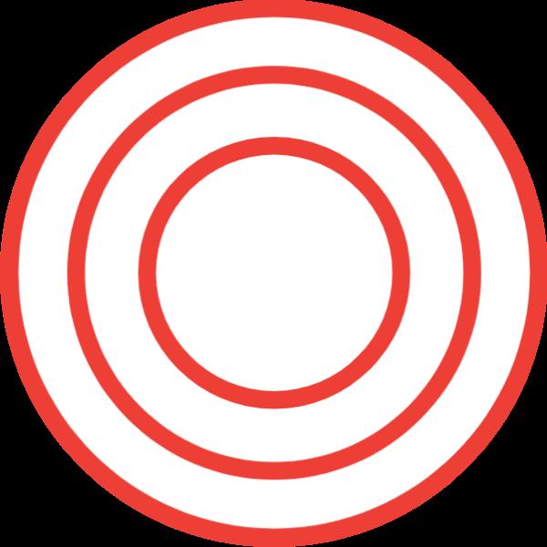 圆形圆几何红色组合