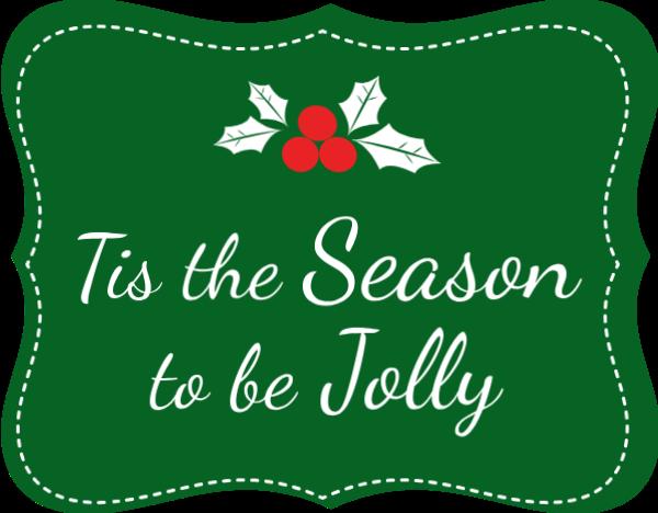 警示牌字母这是快乐的季节tis the season to be jolly英文