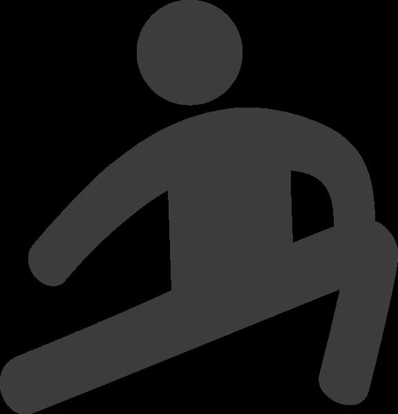 锻炼压腿健身热身运动
