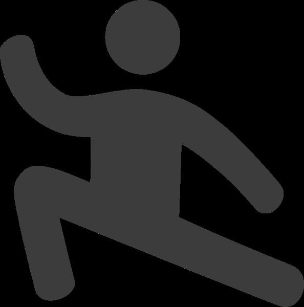 武术运动比赛蹲图标