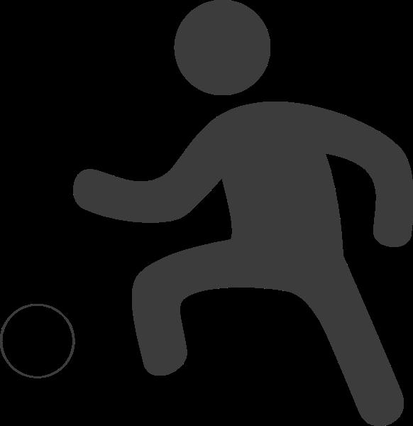 踢足球足球比赛运动锻炼
