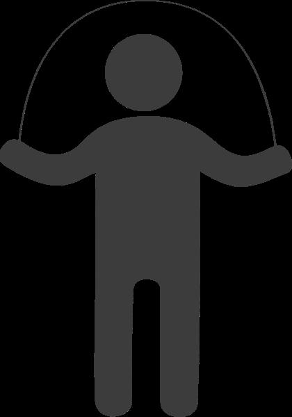 锻炼运动跳绳人物图标