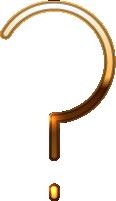 问号符号标点符号金属质感