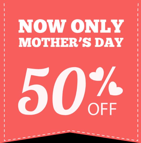 标签图标50%母亲节节日