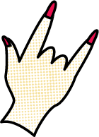手手势手指指头波普元素