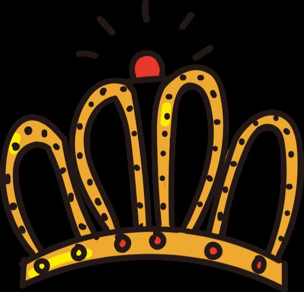 皇冠桂冠黄色富贵王后
