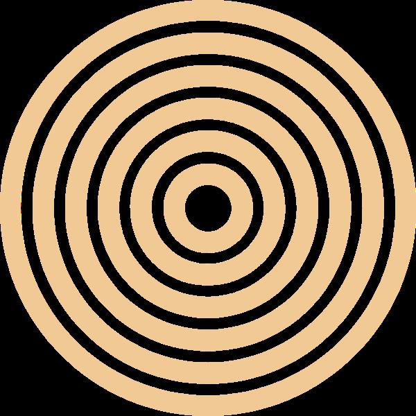 圆形圆同心圆传播纹理