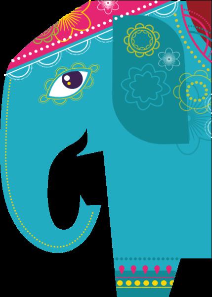 大象扁平插画