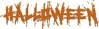萬圣節halloween字體設計節日